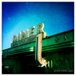 The Diner sign from the opening.