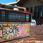The Boombox.  Originally painted by Jason.  Gerard asked me to add the &quot;Boom&quot; before shooting.  I had no idea how visible this little radio would become!