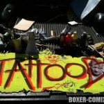Making the Tattoo sign for the Zone 5 Fun Fair